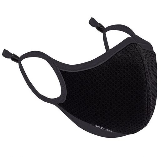 BLACK MESH MASK WITH HALO NANOFILTER™ TECHNOLOGY