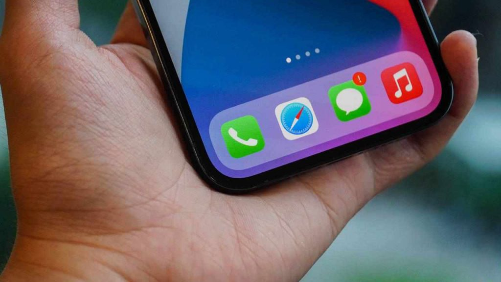 The notch design on iPhone 12 Pro Max