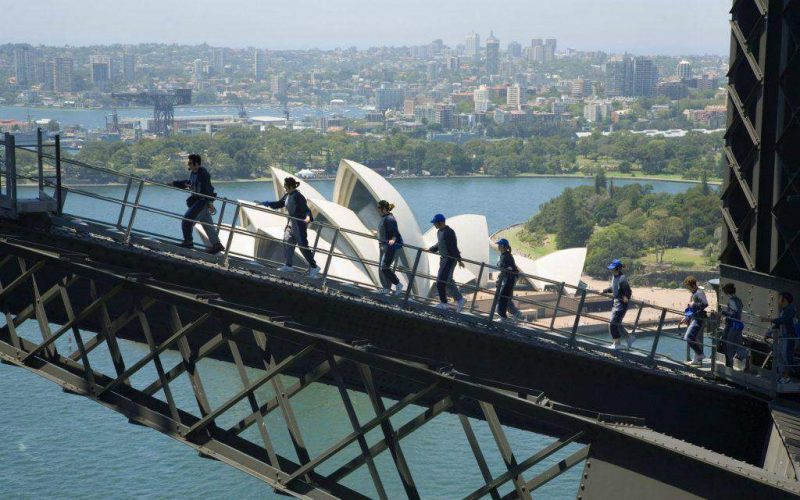 See the city view from Sydney Harbor Bridge - Australia