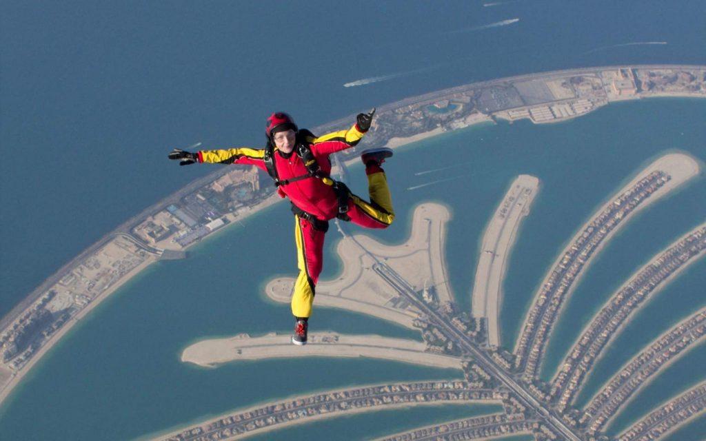 Parachuting from an airplane - Dubai