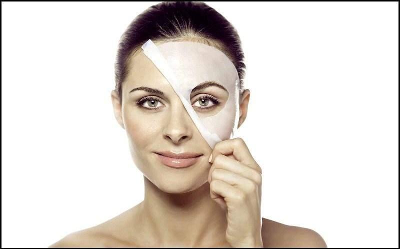 washing face with sugar-free milk