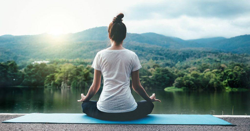 young women do yoga